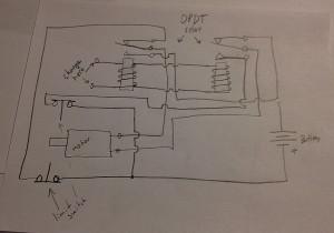 DPDT Motor reverse schematics